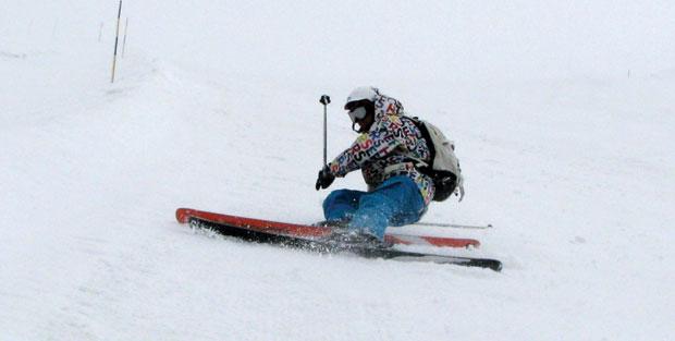 Learn to ski fall