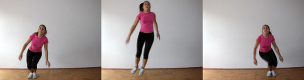 Skiing jumps exercise