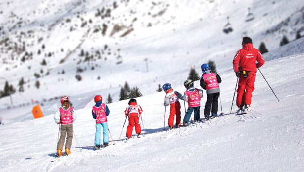 Children's in skiing school